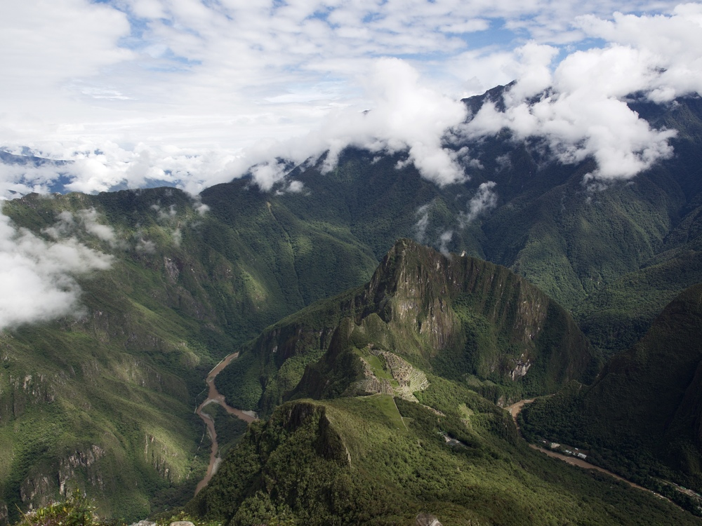 Machu Picchu and the Urubamba River.