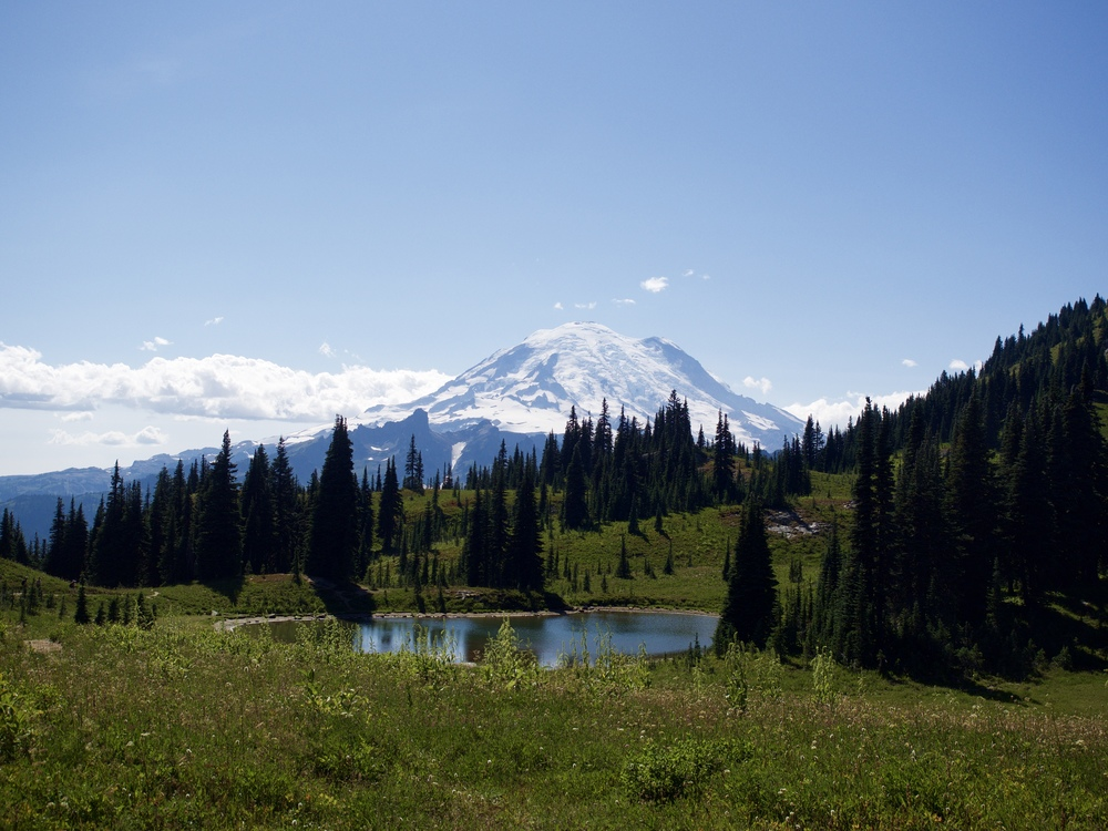 Mount Rainier from Naches Loop Trail