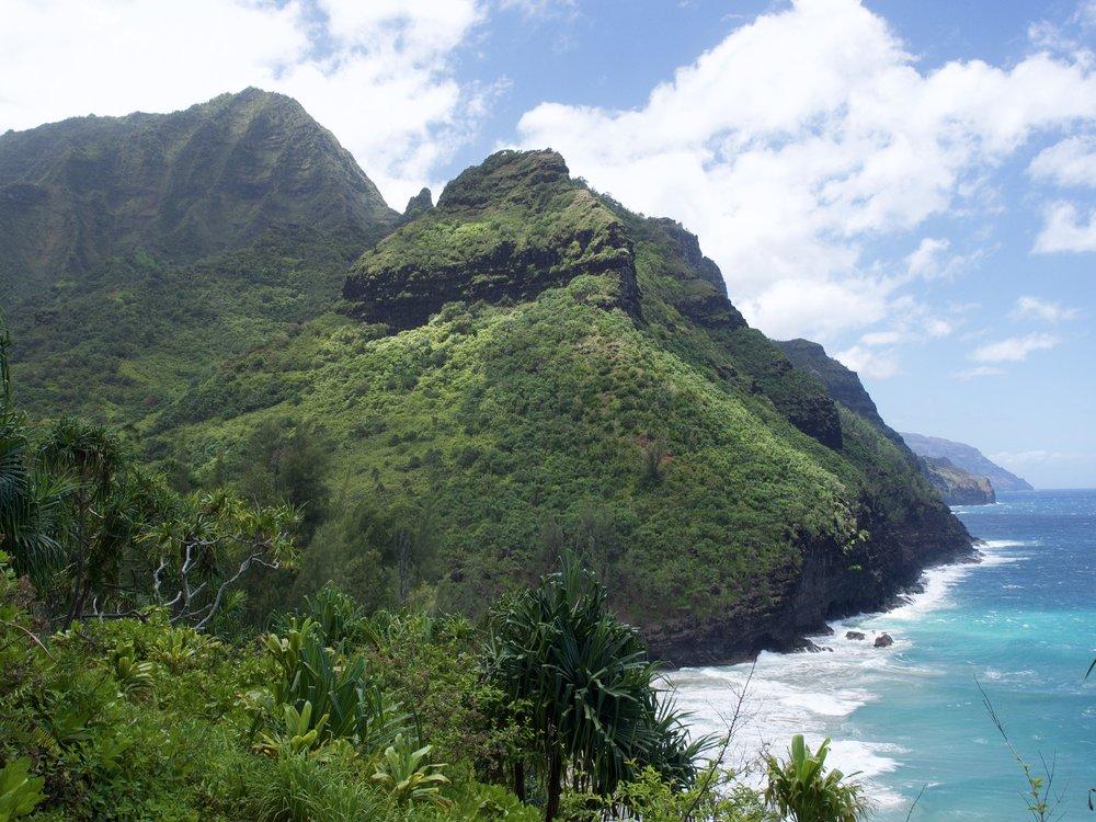 The Napali Coast from the Hanakapi'ai Trail