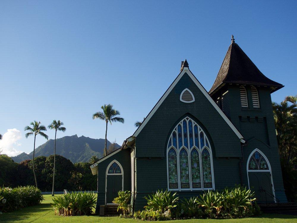 Waioli Huiia Church in Hanalei