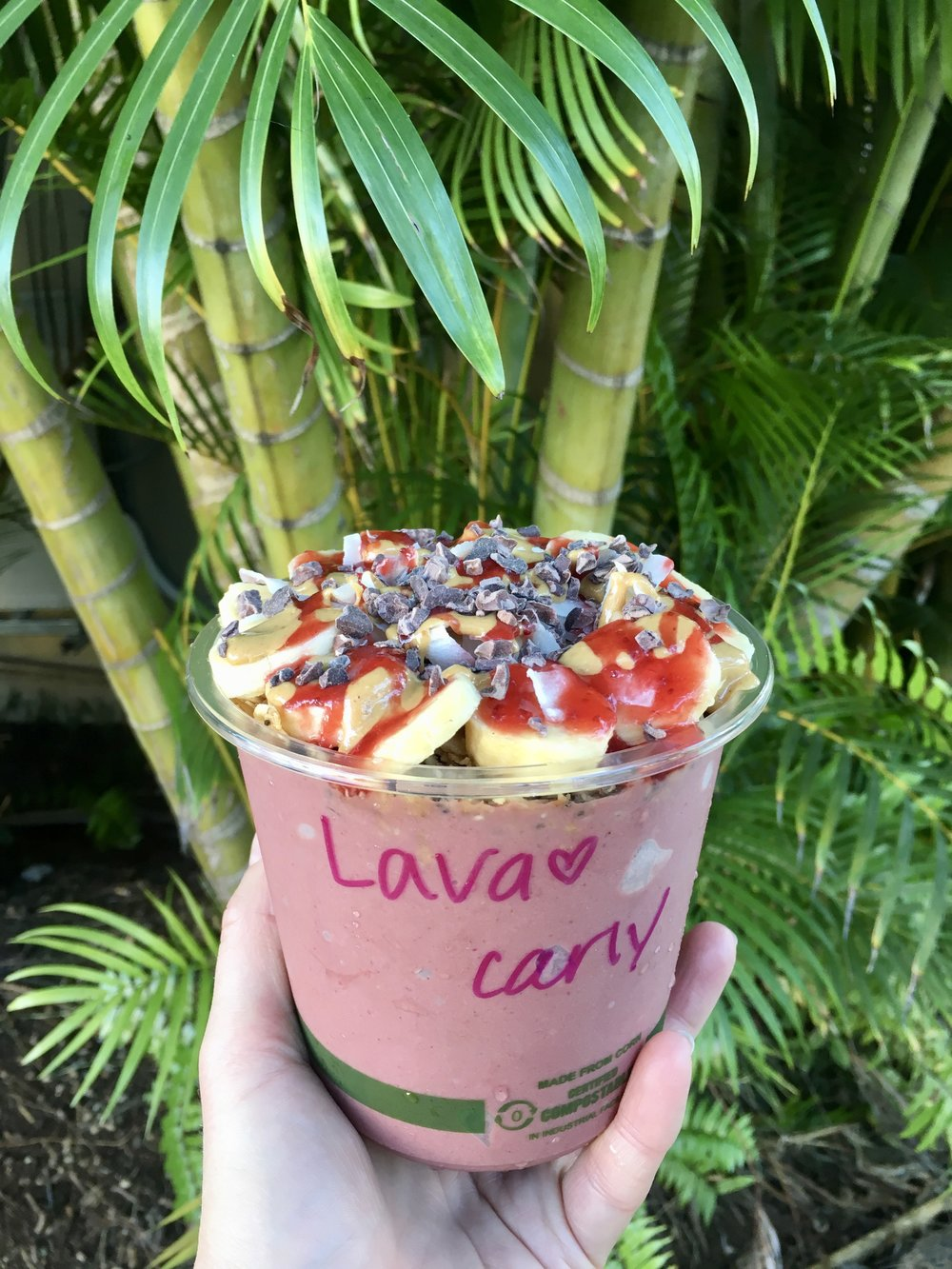 Lava bowl from the Coconut Cup