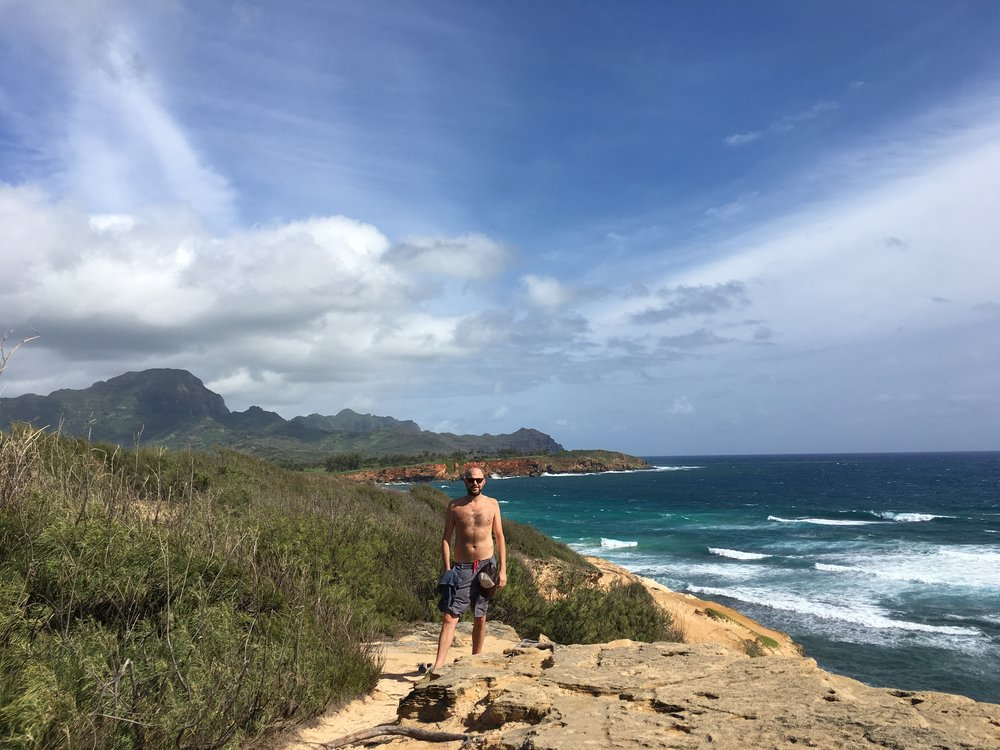 Hiking along the Maha'ulepu Heritage Trail