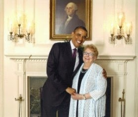 President barack obama & harriet Hancock