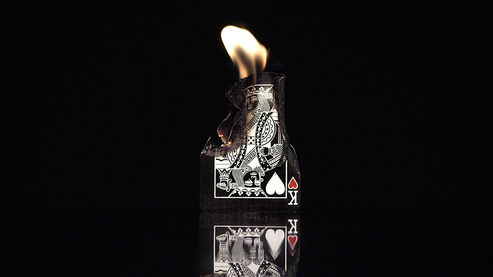 The burning of the King of Hearts was a symbol representing the fall of old traditions as well as a rise of the 'queen', aka the model in our video.
