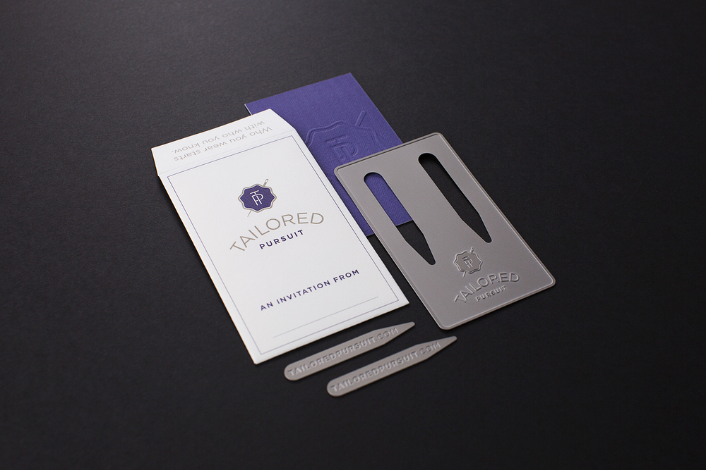 These collar stays included the company URL for more details and to apply for membership into this exclusive club.