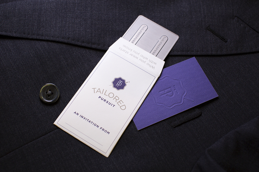 This custom-designed envelope was made from a 25% cotton paper and featured a no-seam die cut.