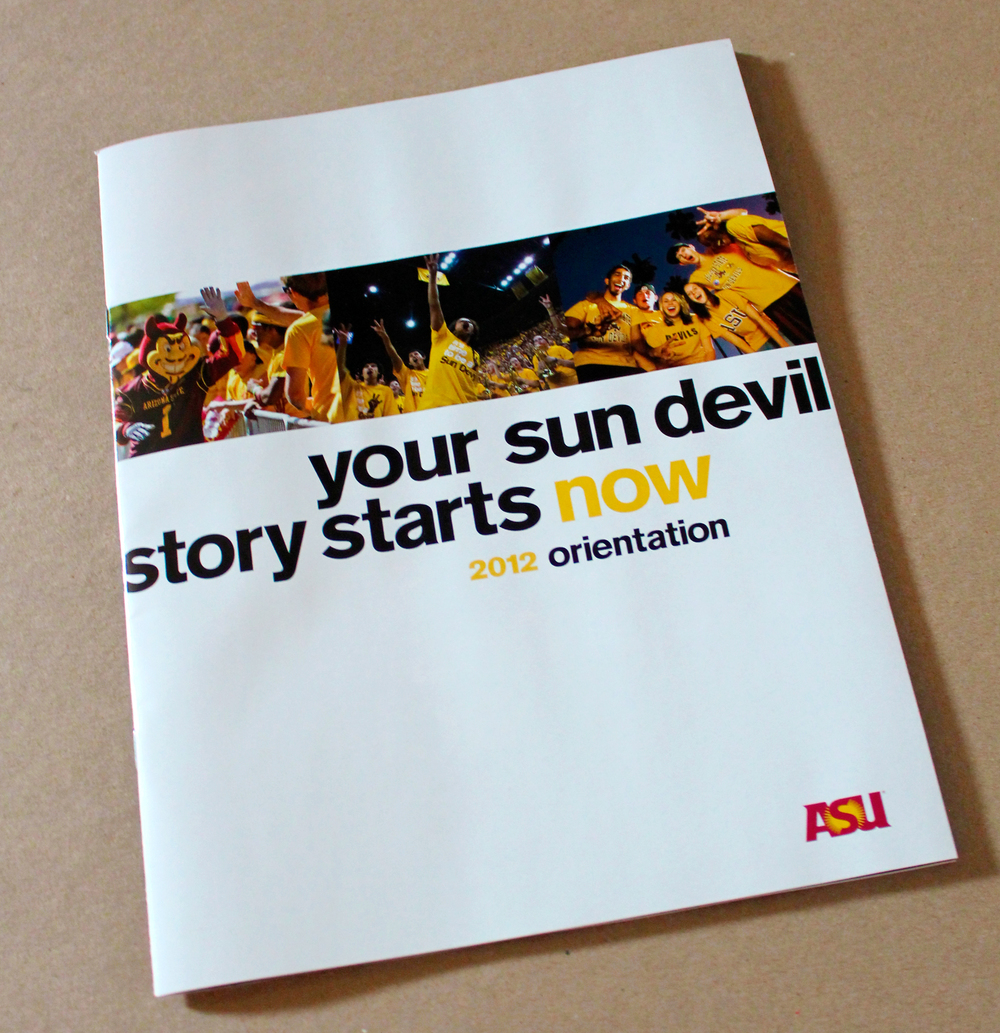 The ASU Freshman Orientation Guide was an essential item in any new students bag - it had the boring stuff like policies and code of conduct, but it also had a lot of useful information like the academic schedule and maps of the 4 different campuses.