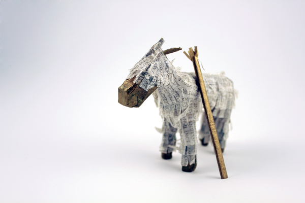 This miniature mule piñata is part of a self promotional gift I have made in the past. He will make sure to get your message to me safely!