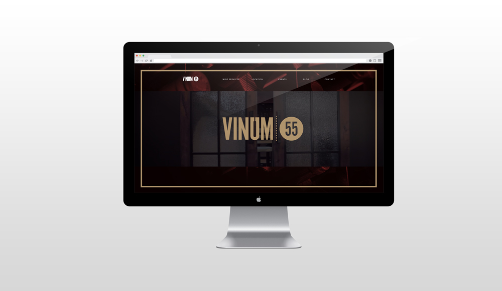 Vinum 55's home page features a beautiful video that showcases the options for wine storage.