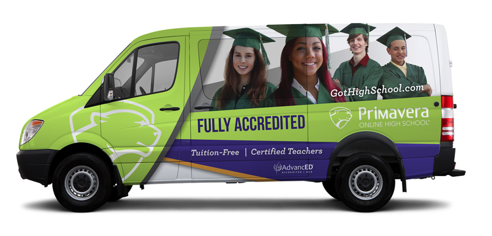 The Primavera van is important not only for transporting the marketing team to events, but also in picking up students who might not have transportation to important events or even testing locations.
