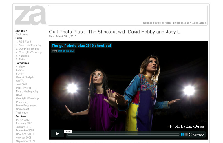 Photo from the Gulf Photo Plus Shootout with Zack Arias, David Hobby, and Joey Lawrence.