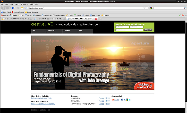 Photo of Creative Live website