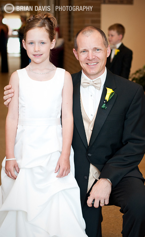 Flowergirl and her father