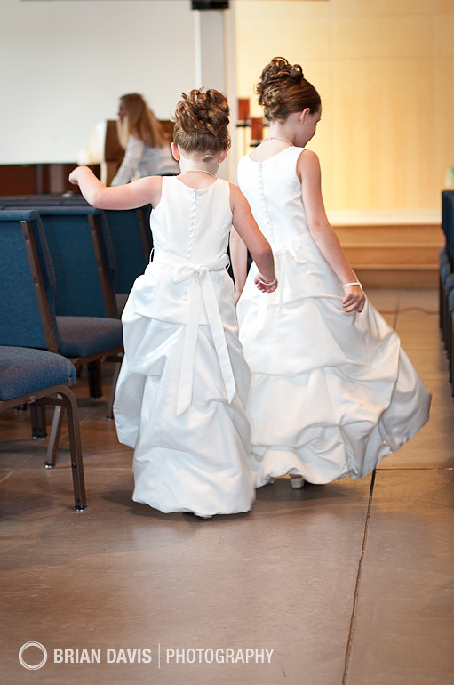 Flowergirls pretending to be brides