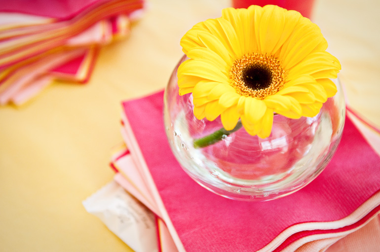 colorful center pieces
