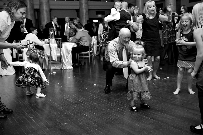 Cute little girl tearing up the dance floor