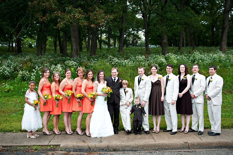 The wonderful bridal party