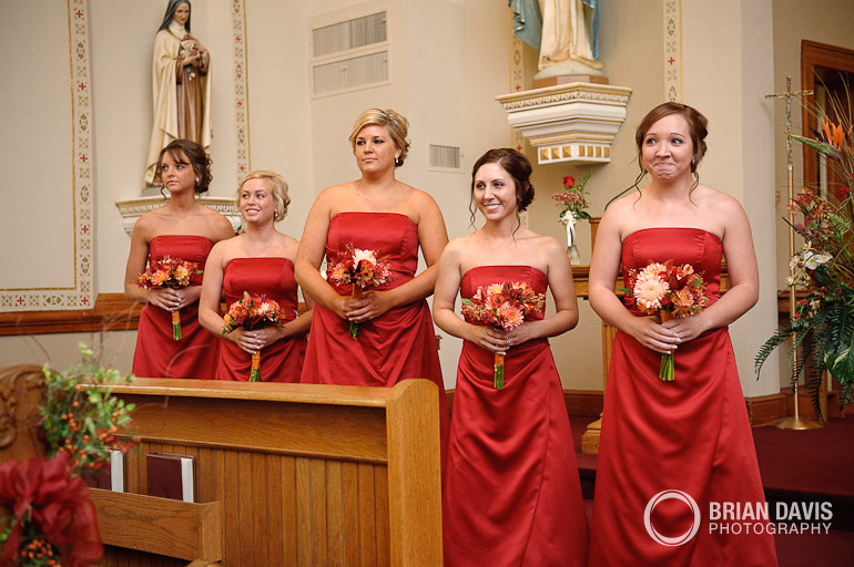 First look from the bridesmaids
