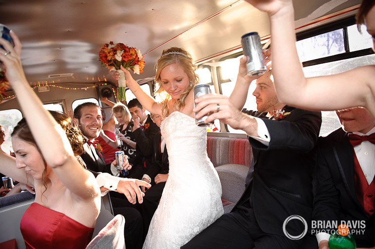 Partying on the bus