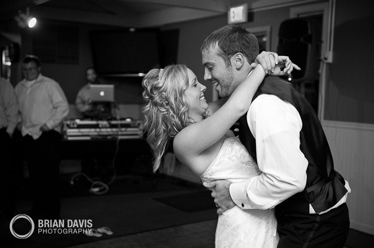 Erica and Jordan's first dance