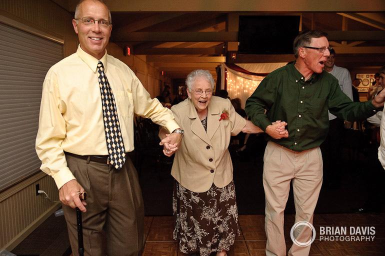 Grandma hitting the dance floor!