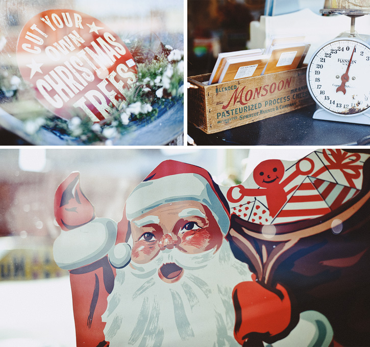 A collection of vintage Christmas items from an antique store in the East Village, Downtown Des Moines