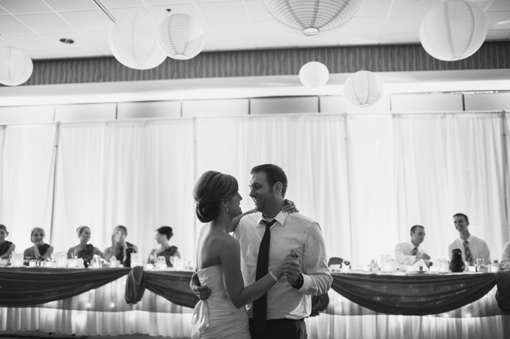 Laura and Ryan during their first dance at Embassy Suites in Des Moines, Iowa