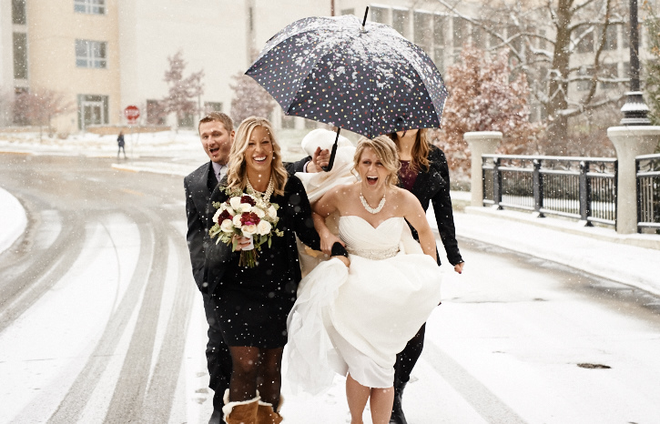 Kendra's Winter Entourage helps her get through the snow