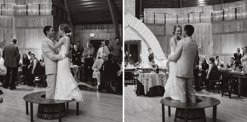 Erin's family builds a platform and allows her to have a tabletop dance with her groom during their reception