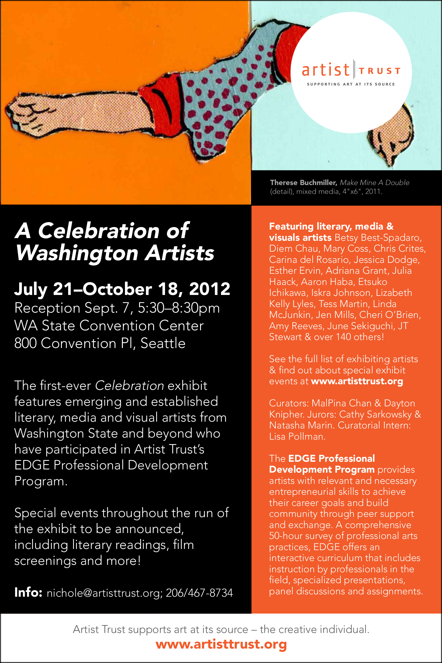 Invitation to A Celebration of Washington Artists