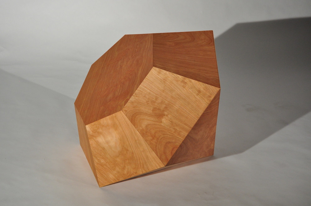 Diamonds Aren't Forever I , 2015, Maple wood sheeting, 45 x 23 x 23 inches