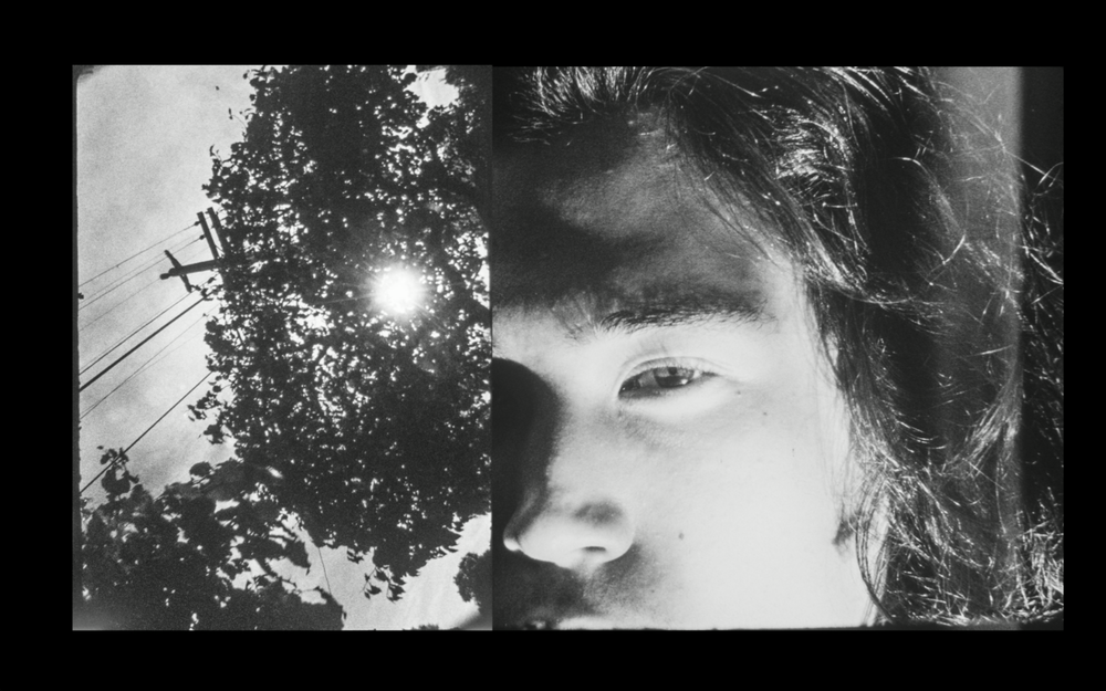 I am here , 2015, Hand-processed reversal 16mm b&w film, 06:26 minutes