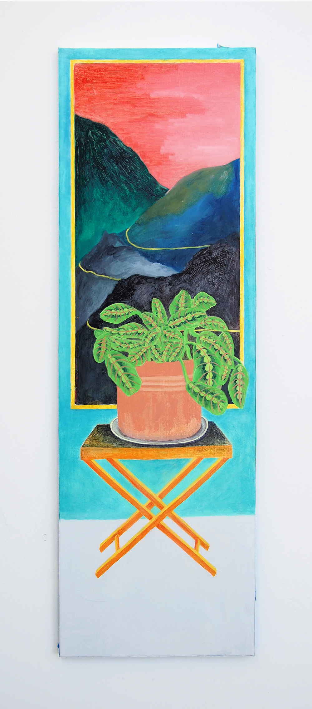 Hidden Artifact , 2016, Oil on canvas, 16 x 48 inches