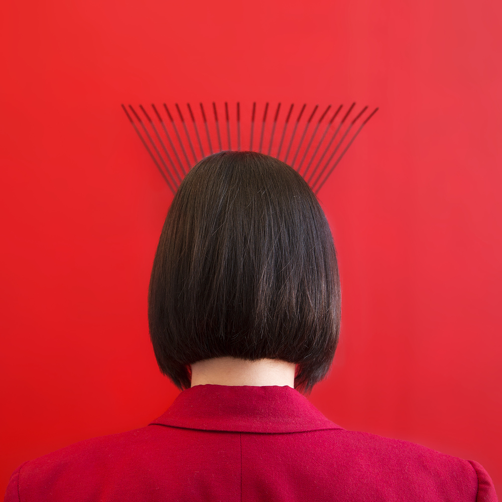 Hair-Rake (Apprehending Redness Series) , 2015, Archival Inkjet Print, 21 x 21 inches