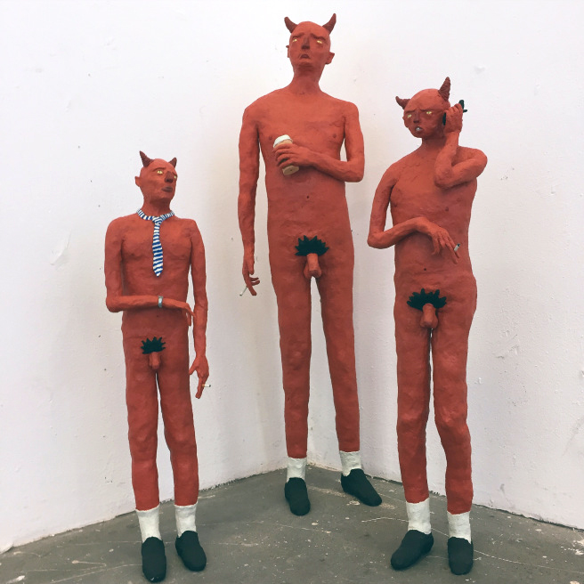 3 Devils,  2015, Acrylic on wood, Dimensions variable