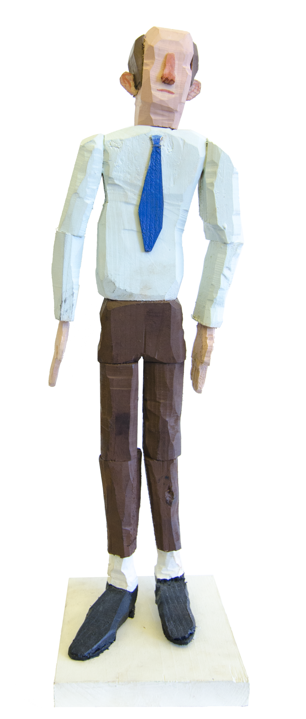 Business man , 2015, Acrylic on wood, 19.5 x 5.5 x 6 inches