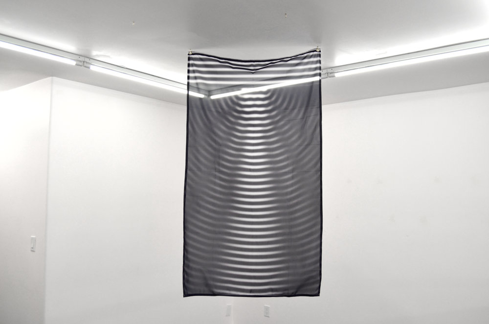 To be a pale copy II , 2017, Digital print on fabric, 59.5 x 36 inches
