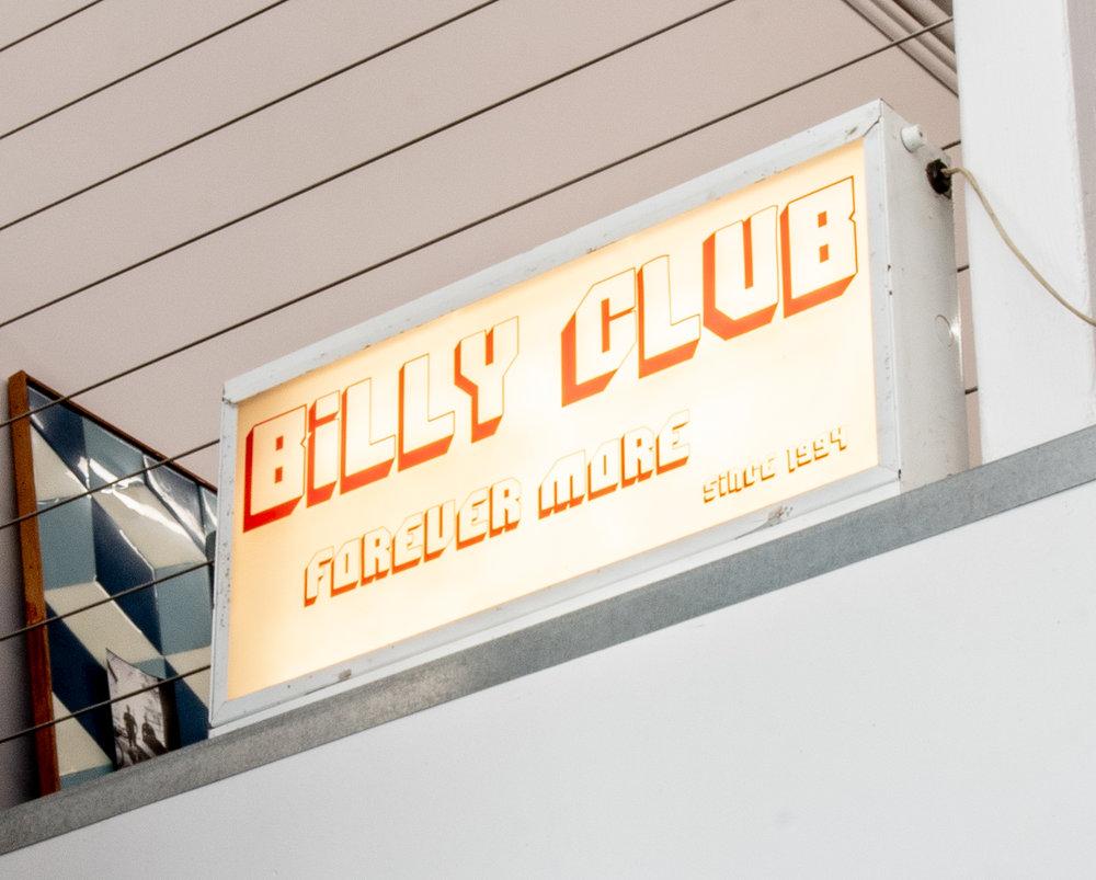 Billy Club,  Vinyl on light box, 12.5 x 24 x 3.5 inches