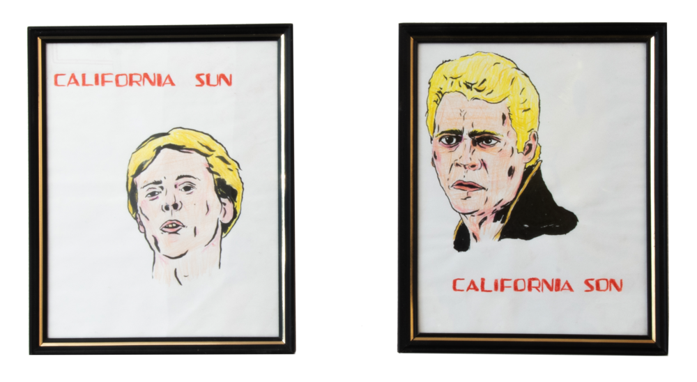 California Sun and California Son,  2018, Colored pencil and marker on paper, 10 ¼ x 8 ¼ inches each