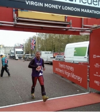 Yes, someone actually ran the London Marathon in ski boots. Check out his amazing story  here .