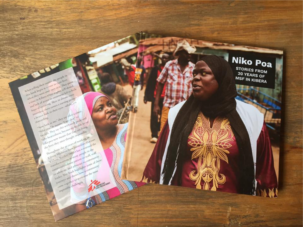 Author and Art Director of Niko Poa photo book documenting the 20 year history of Doctors Without Borders in Kibera, Kenya  Layout Design by  Bård Edlund