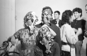 5 DIY, ARI: Brisbane's artist-run spaces now: Lisa Bryan-Brown,  Brisbane     Weeping Woman  performance, That Space, Brisbane, August 1986; image courtesy the University of Queensland Art Museum, Brisbane; photo: The Shared Camera