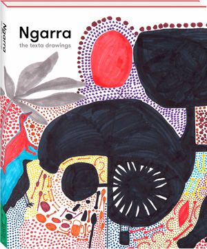 03 Ngarra and the Ngarrangkarni by Darren Jorgensen, Perth Ngarra drawing the work From Barrgululu to Gularrt, c. 1997–98; photo: Kevin Shaw