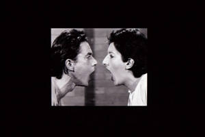4 In the moment: Marina Abramović's 'Private Archaeology' at MONA: Diane Soumilas,  Hobart    Marina Abramović and Ulay,  AAA–AAA,  1978, performance for video, RTB Television Studio, Liège, 15 mins duration; black-and-white video, sound, 9:54 mins duration; Museum of Old and New Art (MONA), Hobart; image courtesy MONA, Hobart; photo: MONA/Rémi Chauvin