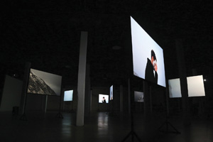8 Jacobus Capone: Dark Learning: Jess Day   Jacobus Capone,  Dark Learning , 7-channel HD video installation, PS Art Space, Fremantle, 2015; images courtesy the artist