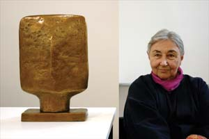 9 TRIBUTE: Marea Gazzard AO, CBE MERRAN ESSAN Marea Gazzard and V.I.P, 2006, bronze; image courtesy of Utopia Art Sydney
