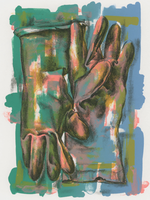 RUTH WALLER, PAIR, 1996, EDITION OF 99, AU$500 LITHOGRAPH, 38 X 28.5CM (PRINT); PRINTER: SUZANNE KNIGHT, STUDIO ONE NATIONAL PRINT WORKSHOP, CANBERRA
