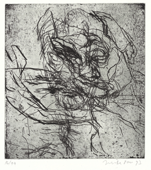 MIKE PARR, THE WIND, 1993, EDITION OF 99, AU$800 ETCHING, 54 X 39.8CM (SHEET); PRINTER: JOHN LOANE, VIRIDIAN PRESS, MELBOURNE