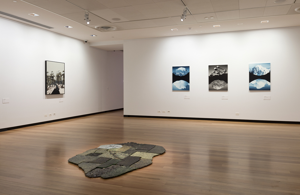 imagined worlds, Installation view; image courtesy Town Hall Gallery, melbourne