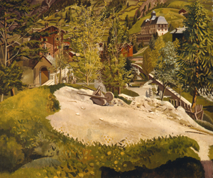 3 His mortal eye: Stanley Spencer at Carrick Hill by Geoff Gibbons, Adelaide Stanley Spencer, Zermatt, 1934, oil on canvas, 51.2 x 61.5cm; Carrick Hill Trust, Adelaide, Hayward Bequest
